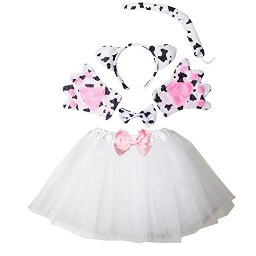 Kirei Sui Kids Cow Costume Tutu Set White -