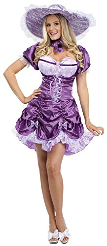 FunWorld Sexy Southern Belle, Purple, 10-14 Medium/Large Costume -