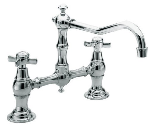 (Newport Brass 945/26 940 Series Two-Hole Kitchen Faucet, Polished Chrome)