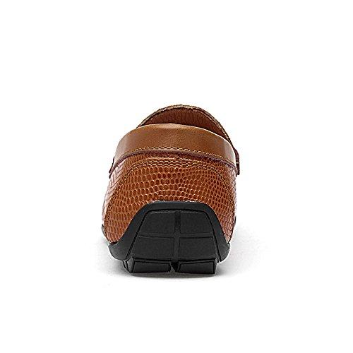 Morbidi Dimensione uomo 45 Marrone On Slip Mocassini Ofgcfbvxd Marrone Driving Skin Wider per Texture casual EU Loafer Color Scarpe Leggero Fitting Rhino HFqSxtUEwx