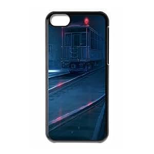 IPhone 5C Cases Dark Train Station, Railway [Black]