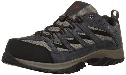 Columbia Crestwood Wide Zapatillas de Senderismo para Hombre, Quarry, Rusty, 10W US