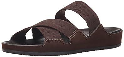 crocsAnna Slide - Sandalias de Punta Descubierta Mujer , color Marrón, talla 34/35