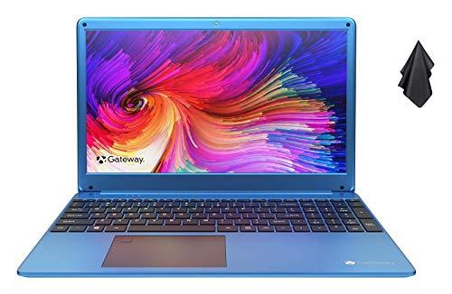 2021 Newest Gateway 15.6″ FHD Ultra Slim Laptop, AMD Ryzen 5 3450U (Better Than i7-8565U), 16GB RAM, 1TB SSD, THX Audio, Fingerprint Scanner, Webcam, HDMI, WiFi, Windows 10 Home, Blue+Oydisen Cloth