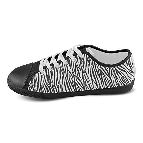 D-story Custom Zebra Stripes Zapatos De Lona Para Mujer (modelo 016)