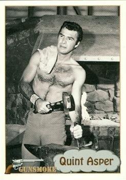 Burt Reynolds trading card Gunsmoke TV show 1993 Pacific #72 Shirtless Quint Asper from Autograph Warehouse