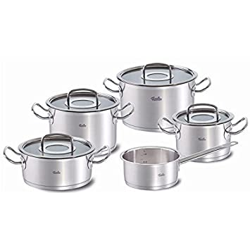 Fissler 9 piece Original Profi Cookware Set with Glass Lids FISS-08413605000