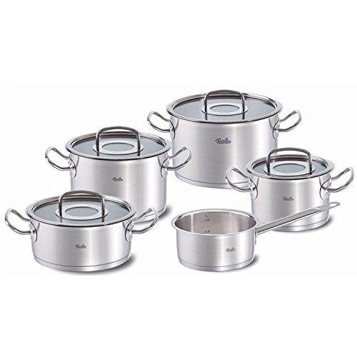fissler fiss 08413605000 fissler 9 piece original profi cookware set with glass lids fiss. Black Bedroom Furniture Sets. Home Design Ideas