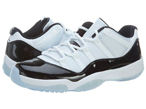 Nike Air Jordan 11 Retro Low, Scarpe da Basket Uomo Bianco / Nero (White / Black-dark Concord)