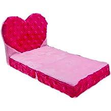 Build a Bear Fuchsia Pink Mini Heart Bed Fits Buddies Smallfrys 7in. Teddy Size Stuffed Plush Toy Animals