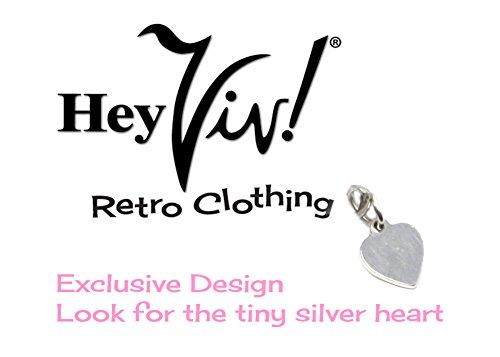 Hey Viv ! Black Bead Sweater Guard, Cardigan, Scarf Clip in Organza Bag - 50s Style by Hey Viv ! (Image #4)'