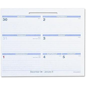 Amazon Com 3 X At A Glance Flip A Week 2014 Desk Calendar