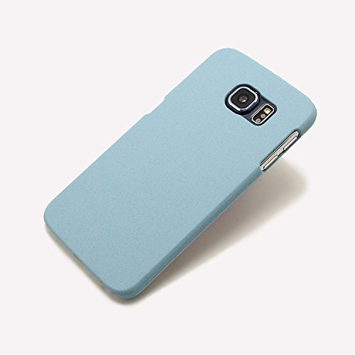 Galaxy S6 Case, Hybrid Rubberized Protective Scrub Hard Case for Samsung Galaxy S6 (blue)