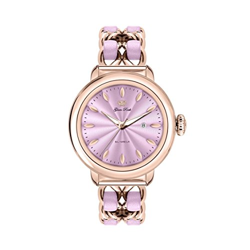 Glam Rock Women's Bal Harbour 40mm Multicolor Rose Gold Plated Bracelet & Case Swiss Quartz Watch GR77026