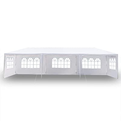DIYhome 10'x30' Eight Sides Two Doors Canopy Tent with Spiral Tubes Party Wedding Outdoor Patio Waterproof Tent Heavy Duty Gazebo Pavilion (Type3) : Garden & Outdoor