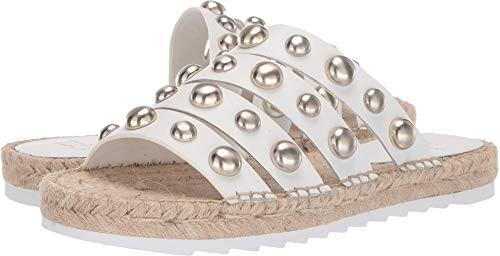 Marc Fisher Women's LTD Brandie Espadrille Platform Sandal (6 B US, White Leather)