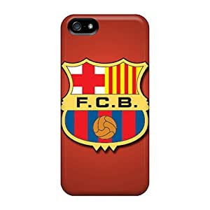 Shockproof Hard Cell-phone Case For Iphone 5/5s With Custom HD Fc Barcelona Pictures LauraAdamicska