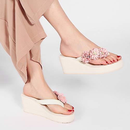 Mot Mode de inférieures Plage Les Taille 37EU épaisses de Pantoufles Chaussures de A Couleur AMINSHAP Pantoufles B de Les Dames Portent de antidérapantes qXOnf0