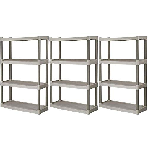 (Plano 4-Shelf Heavy Duty Plastic Storage Unit, Pack of 3 + Freebies)