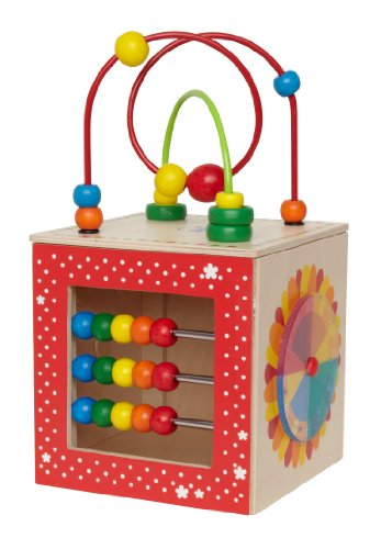 - Hape Discovery Box Wooden Activity Center Baby Toy