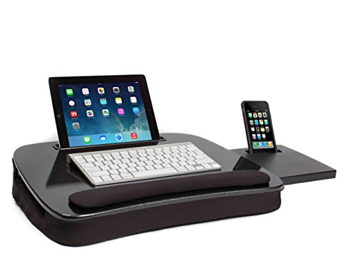 Sofia + Sam Multi Tasking Memory Foam Lap Desk (Black Top) | Supports Laptops Up To 15 Inches