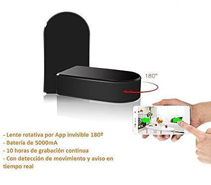 Cámara oculta WIFI IP HD Rotativa 180º con control de audio