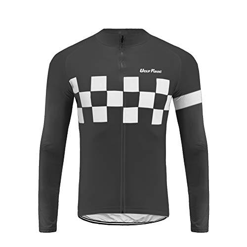 rt Lightweight Sports T-Shirt Cycling Quick-Dry Long Sleeve Men's Performance Training T- Shirt Top ()