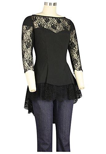 Camisas Mujer Asimétrico Alaani Negro Para Hqwd7gd