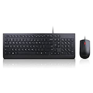 lenovo essential wired keyboard and mouse combo us english computers accessories. Black Bedroom Furniture Sets. Home Design Ideas