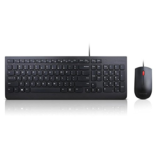lenovo essential wired keyboard and mouse combo us english buy online in uae pc products. Black Bedroom Furniture Sets. Home Design Ideas