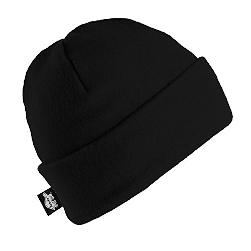 Fleece Ski Hat (Turtle Fur Original Turtle Fur Fleece The Hat, Heavyweight Fleece Watch Cap Beanie, Black)