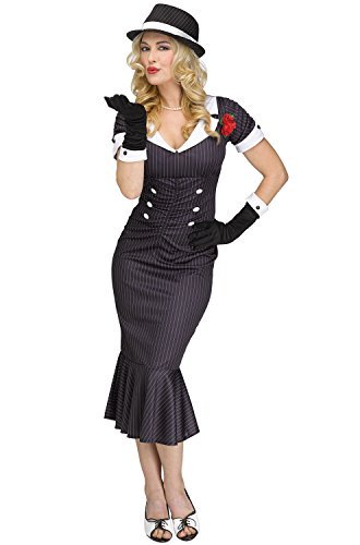 (Fun World Women's Gangster Costume, Multi Color)
