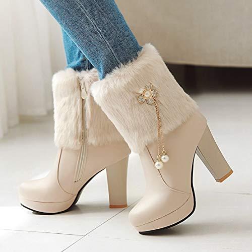 Aiyoumei Aiyoumei Donna Classici Aiyoumei Stivali Beige Classici Beige Donna Stivali Stivali ZEwqw51