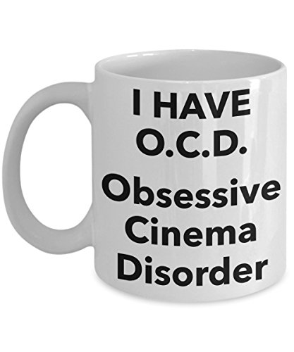 Film Lover Gift Mug  Obsessive Cinema Disorder Coffee Tea Cup  Funny Quote Gifts For Ocd Friend Colleague Or Family Member  Fun Present For Those Obsessed In Movie Theater Films Show Cinematics