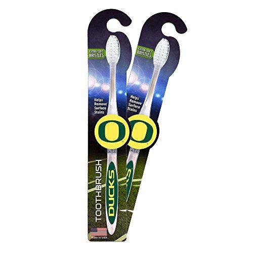 (Worthy Promotional NCAA Oregon Ducks Toothbrush 2-pack. Sturdy Design, Soft)