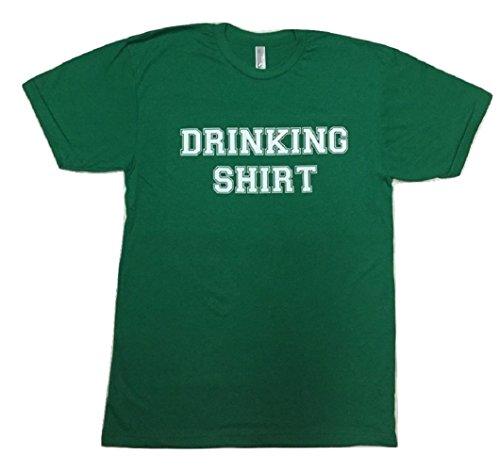 (Gym Time Designs Drinking Shirt- Men's Kelly Green Poly/Cotton Blend Crewneck T-Shirt (X-Large, Kelly Green))