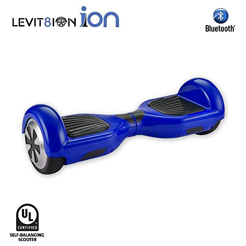 "Price comparison product image LEVIT8ION ION 6.5"" Hoverboard - Self Balancing Scooter 2 Wheel Electric Scooter - UL Certified 2272 With Bluetooth And LED Lights (Blue)"