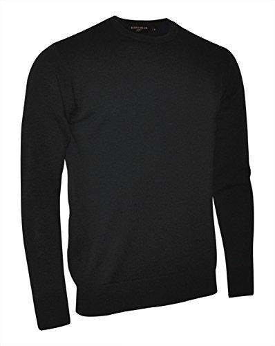 Glenmuir Morar Lambswool Crew Neck Sweater - Black - L