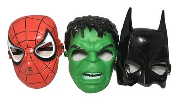 Seasons Merchandise Set of 3 Kids Masks - Spider-Man, Batman, Hulk ()