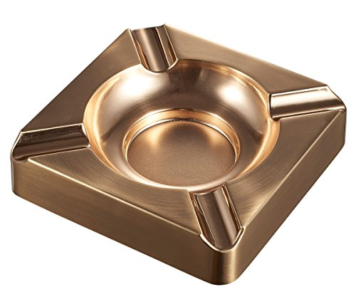 Visol Heavyweight Satin Cigar Ashtray, Gold Finish (Finish Finish Gold Satin)