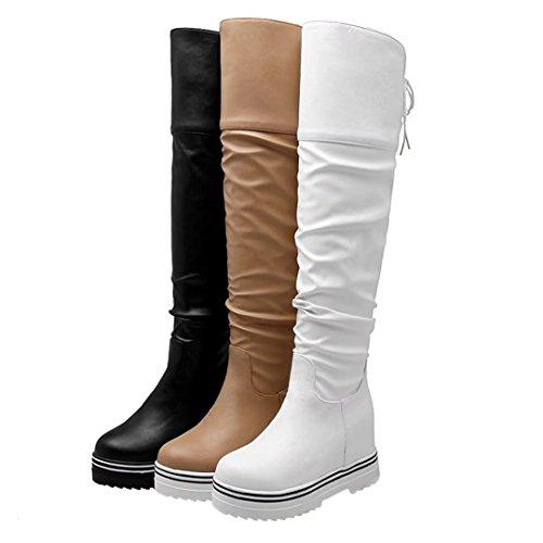 AIYOUMEI Women's Classic Boot weiß Q2P3Jy