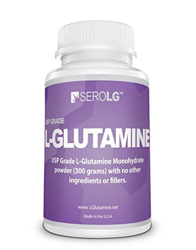 SeroLG L-Glutamine Powder-300 Grams-Amino Acids-60 servings -Unflavored