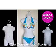 Female Dress Toddler And Child Mannequin Body Forms Set Of 3 Pcs - White by The Competitive Store