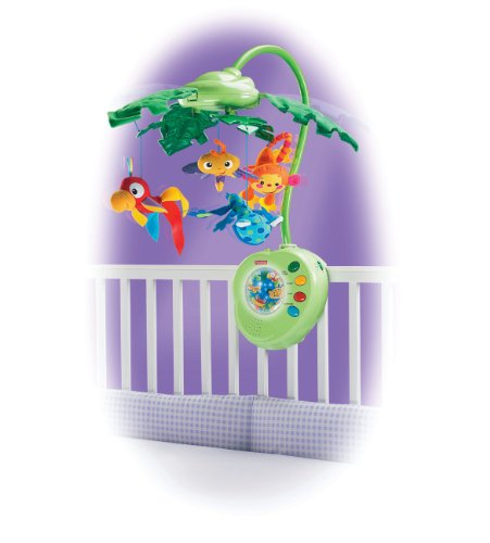 Fisher-Price Rainforest Peek-A-Boo Leaves Musical Mobile by Fisher-Price (Image #2)