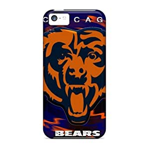 Durable Hard Phone Case For iPhone 5 5s With Unique Design HD Chicago Bears Pattern JamieBratt