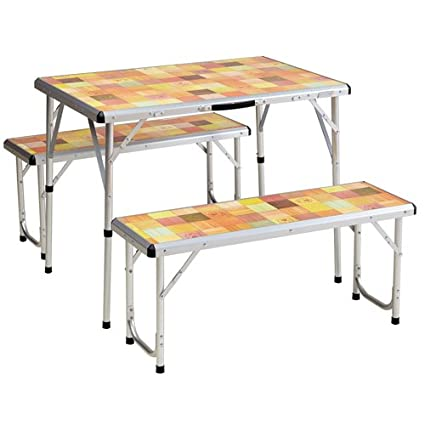 Amazon.com : Coleman Pack-Away Picnic Table Set for 4 : Camping ...
