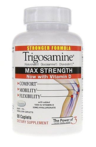 Trigosamine Max Strength Plus Vitamin D Caplets, 90 Count Bottle