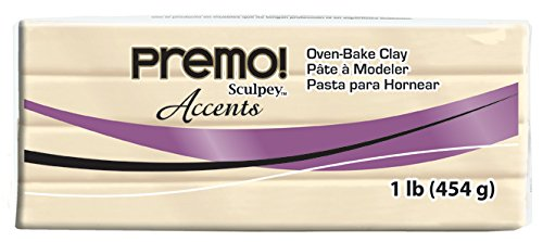 - Sculpey Premo Polymer Art Clay Accents, 1-Pound, Translucent (PE1 5310)