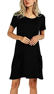 Urban CoCo Women's Casual T-shirt Dress Swing Pocket Shift Dress