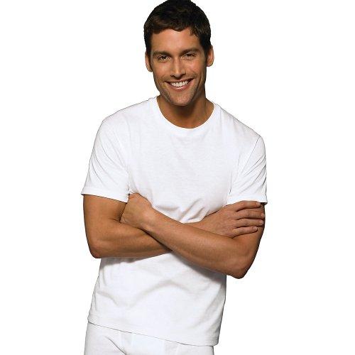 Hanes Men's Tagless ComfortSoft Crewneck T-Shirt (Pack Of 10) (White, Large 10-Pack) (Crewneck Tagless T-shirt Hanes)